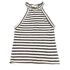 Gray and white striped tank top